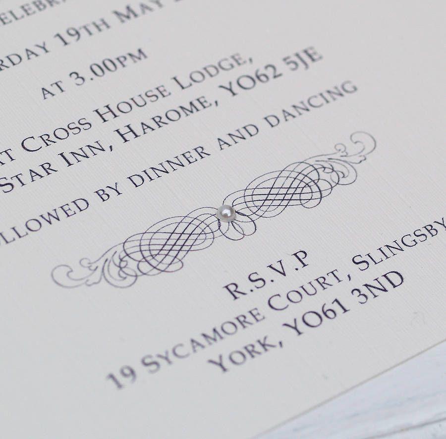 Classic Personalised Wedding Invitation | Weddings, Bridesmaid ...