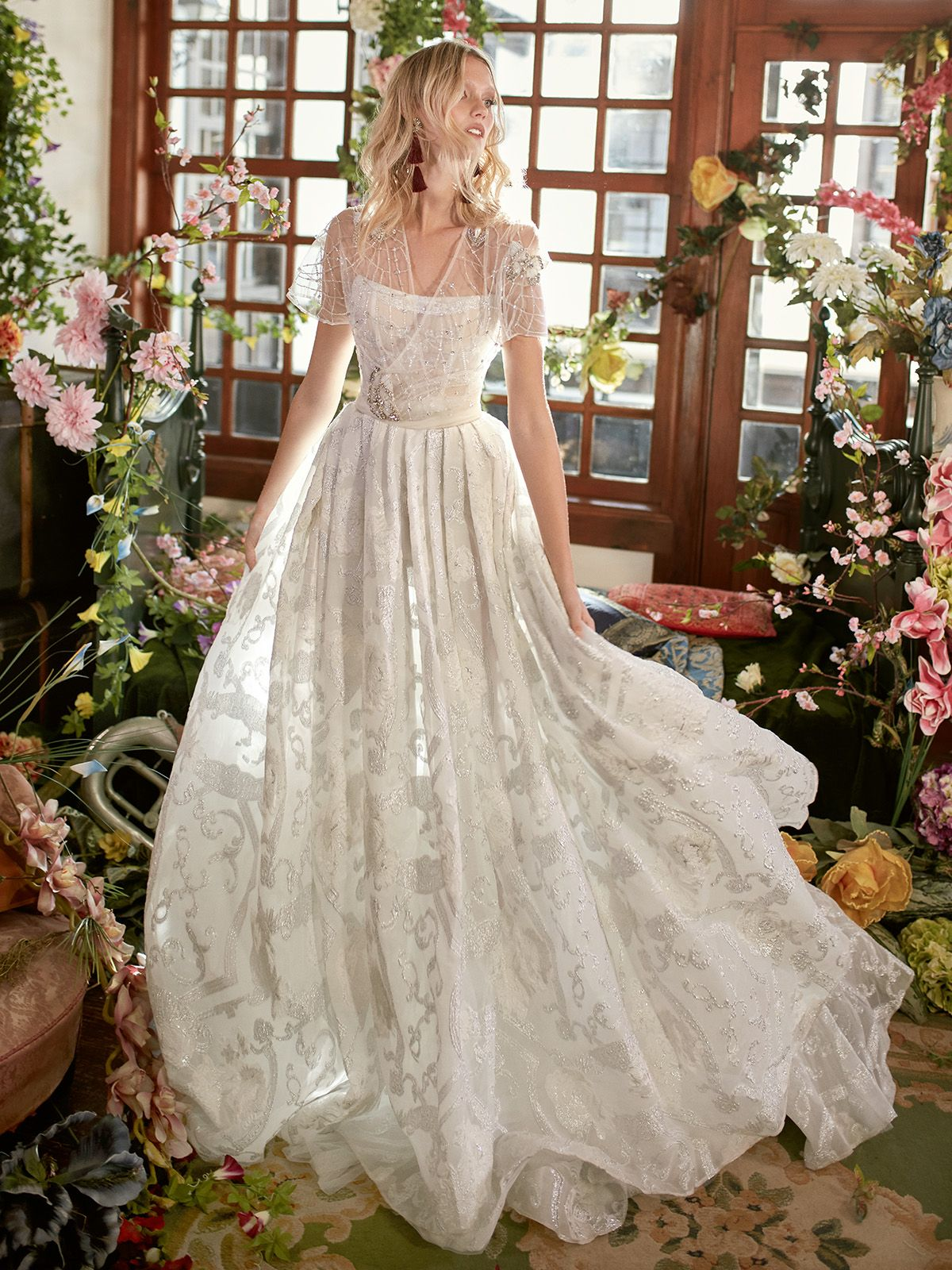 A rustic wedding deserves an elegant and statement dress and we just