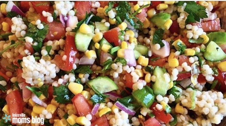Easy Couscous Vegetable Salad Vegetable salad, Salad