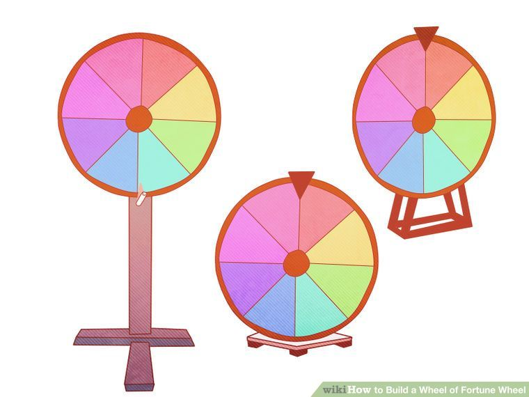 How To Build A Wheel Of Fortune Wheel With Pictures Wikihow