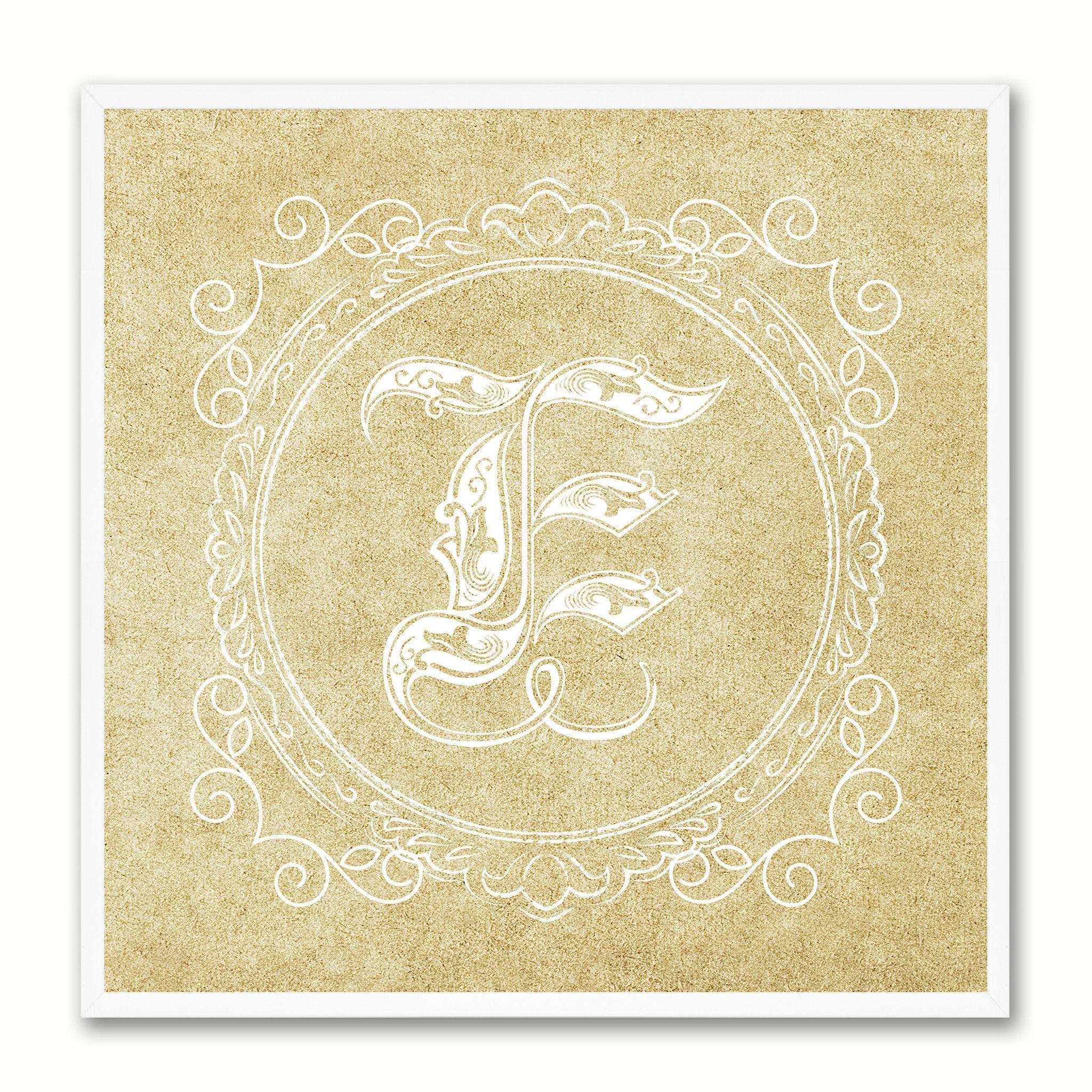 Alphabet Letter E Brown Canvas Print Black Frame Kids Bedroom Wall ...
