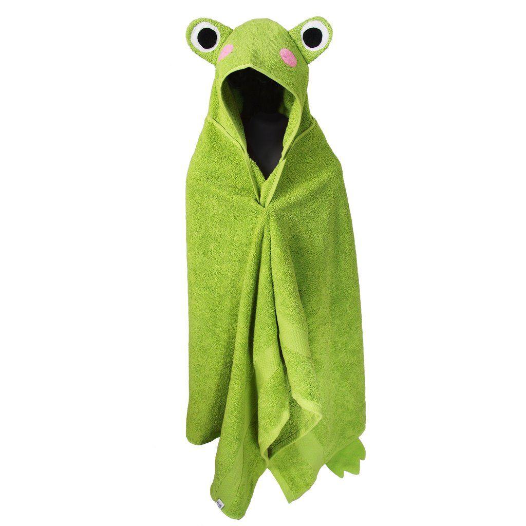 Hooded Towel Frog Bath Towels For Children And Adults Kids Bath