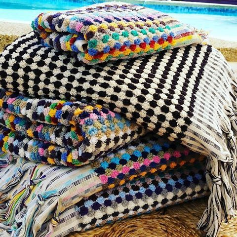 Rainbow Turkish Pom Pom Towel Turkish Towels Turkish Towels