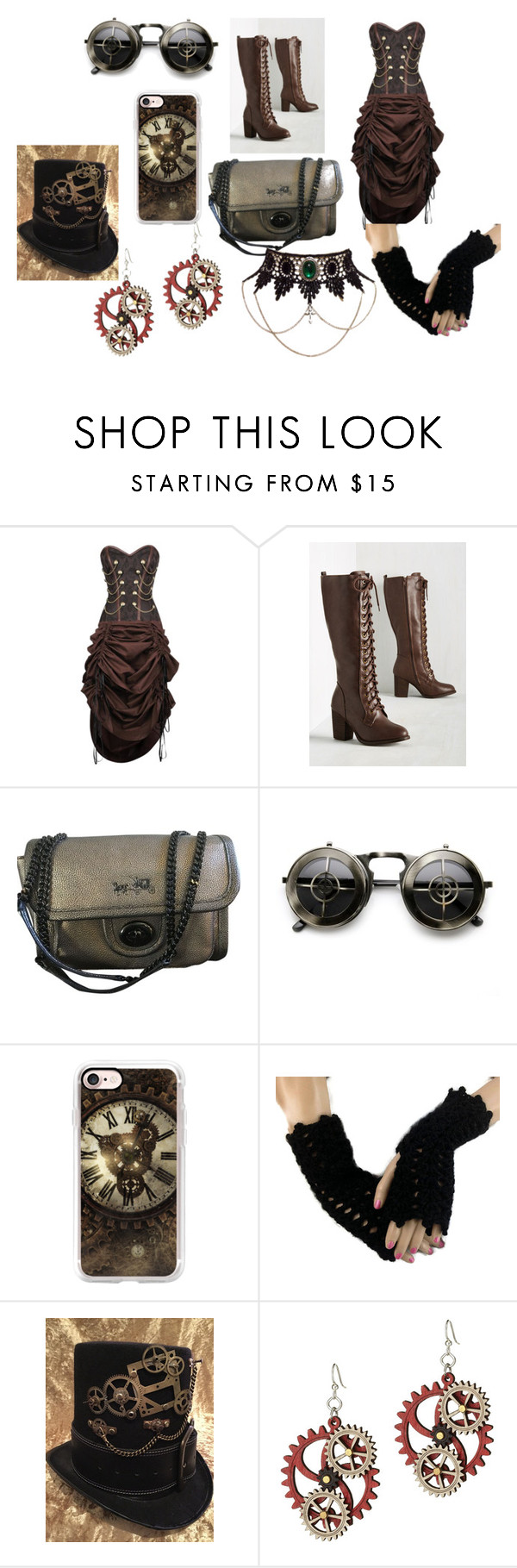 """""""Steampunk"""" by pcgcooper-1 on Polyvore featuring Coach, ZeroUV, Casetify and INC International Concepts"""