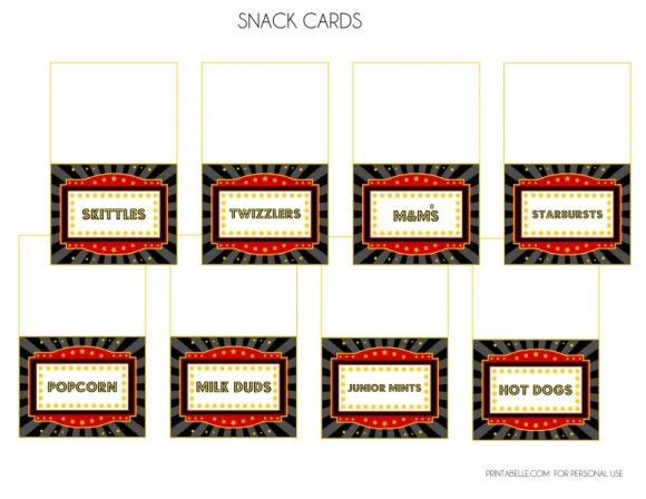 picture regarding Concession Stand Signs Printable referred to as Cost-free video clip evening social gathering printables concession stand playing cards