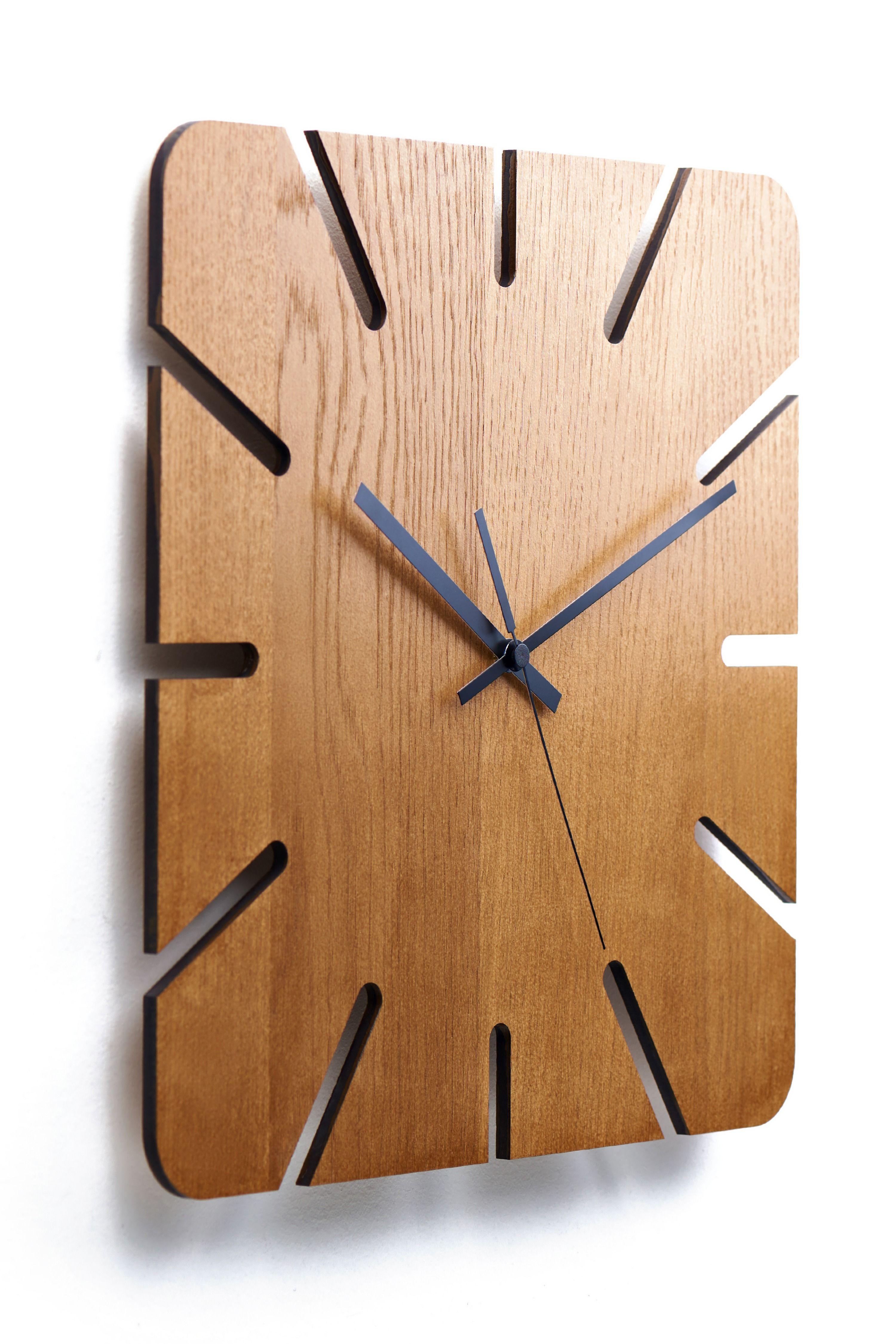 Moku Roppongi Wooden Wall Art Clock Diy Clock Wall Rustic Wall Clocks Handmade Wall Clocks