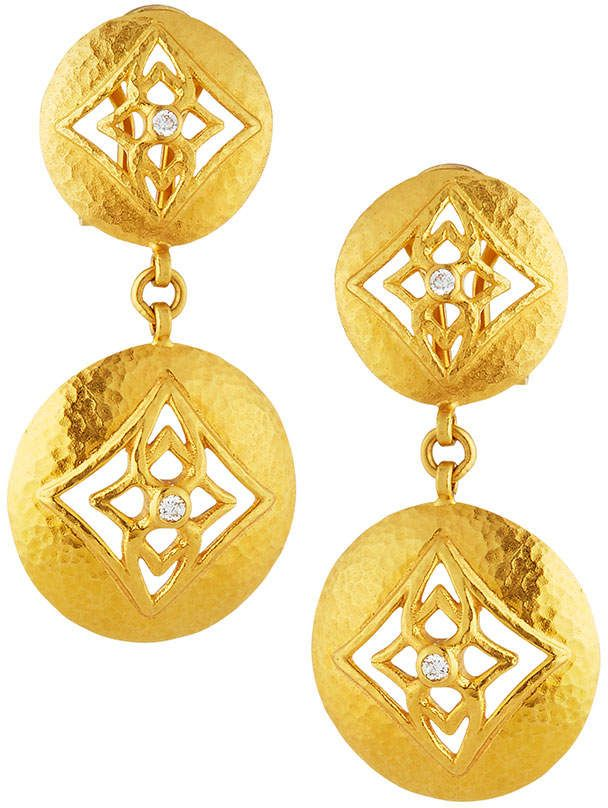 Gurhan 22k Topkapi Double-Drop Earrings MJnX5P