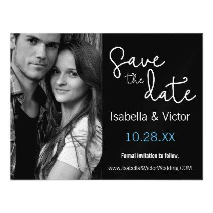 modern simple save the date magnetic card wedding invitation