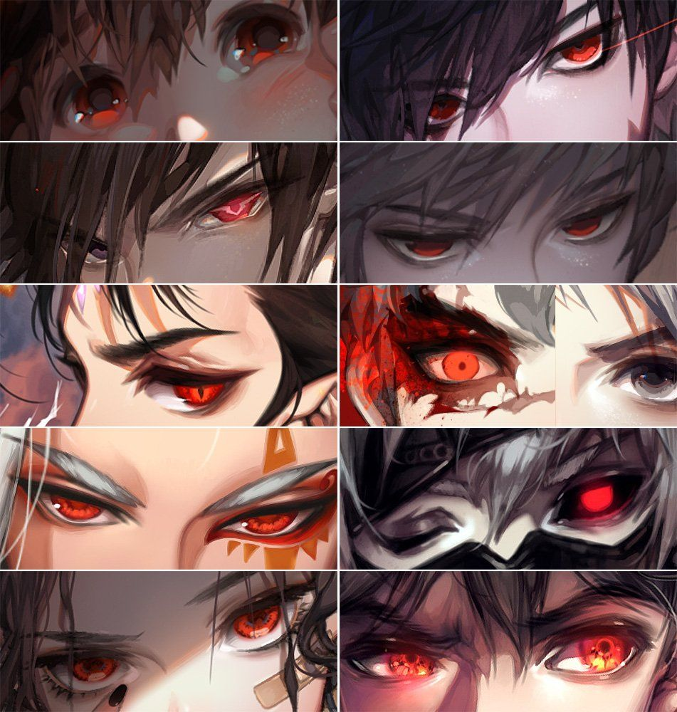Red Of Evil Anime Eye Drawing Eyes Artwork Eye Drawing