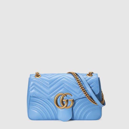 Bolsa Gucci GG Marmont matelassé shoulder bag white