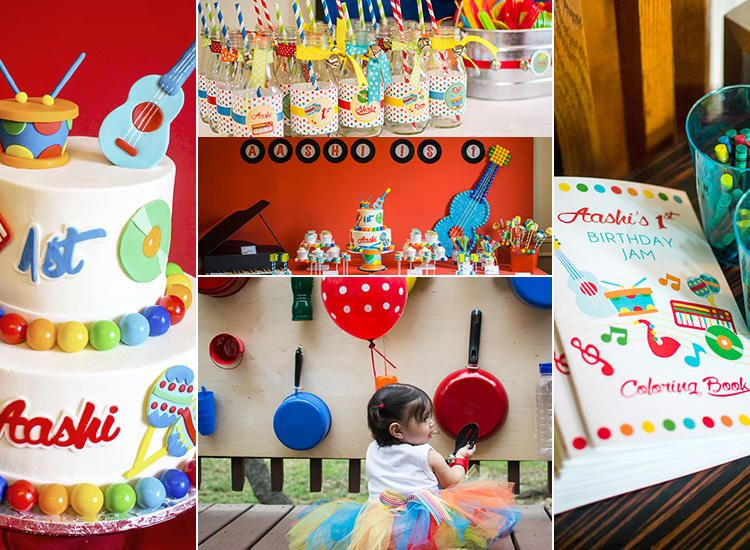 14 First Birthday Ideas Music Themed Parties Music Birthday Party Theme First Birthday Party Themes