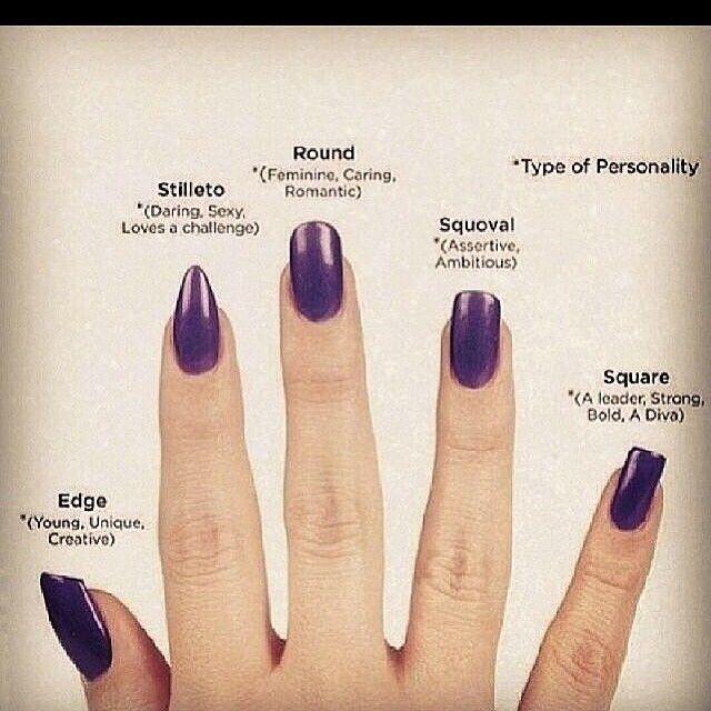 Nail Shape Style Names Nagelformen Acrylnagelformen Nagel Hacks