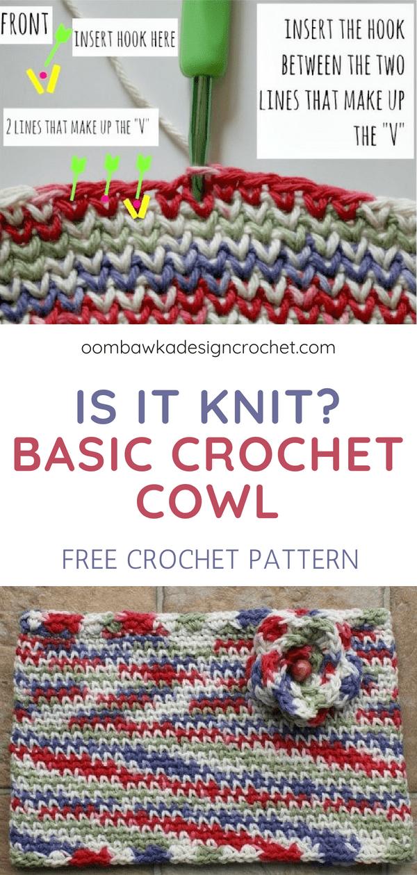 Is It Knit? Waistcoat Stitch Cowl Pattern   Hooked   Pinterest ...