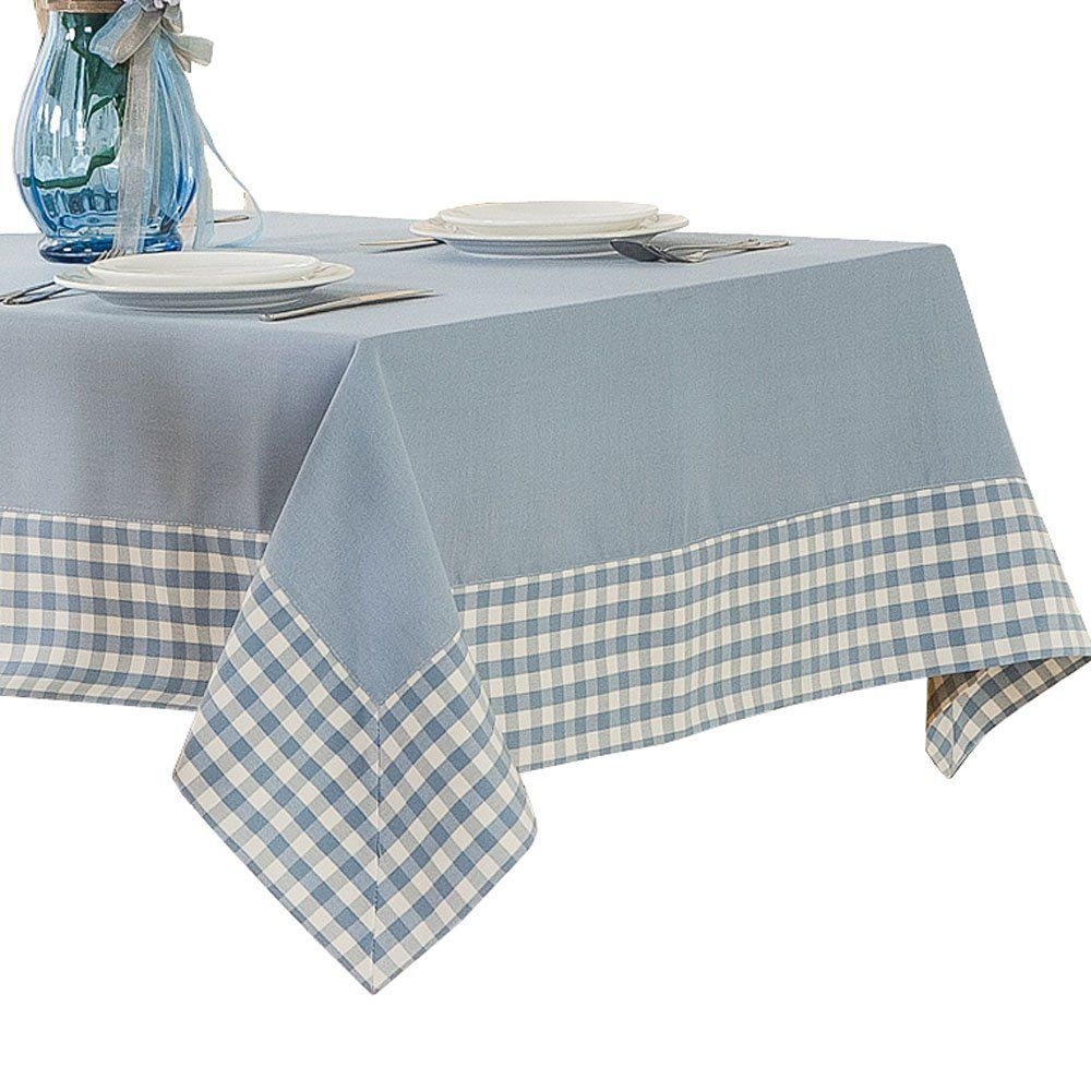 Amazon Com R Lang Spillproof Heavy Weight Fabric Rectangle Tablecloth Light Blue 52 X 70 Inch Home Kitch Tablecloth Fabric Table Cloth Rectangle Tablecloth