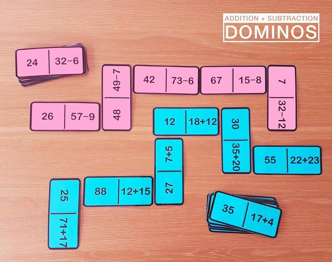 Addition and Subtraction Fact Dominos - 2 Set Pack | Math activities ...
