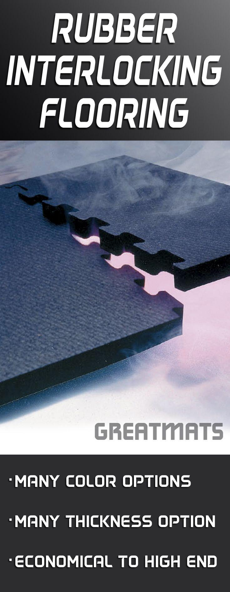 Find rubber interlocking flooring tiles of the highest