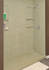 Transolid - Solid surface shower walls and base, sand mountain ...