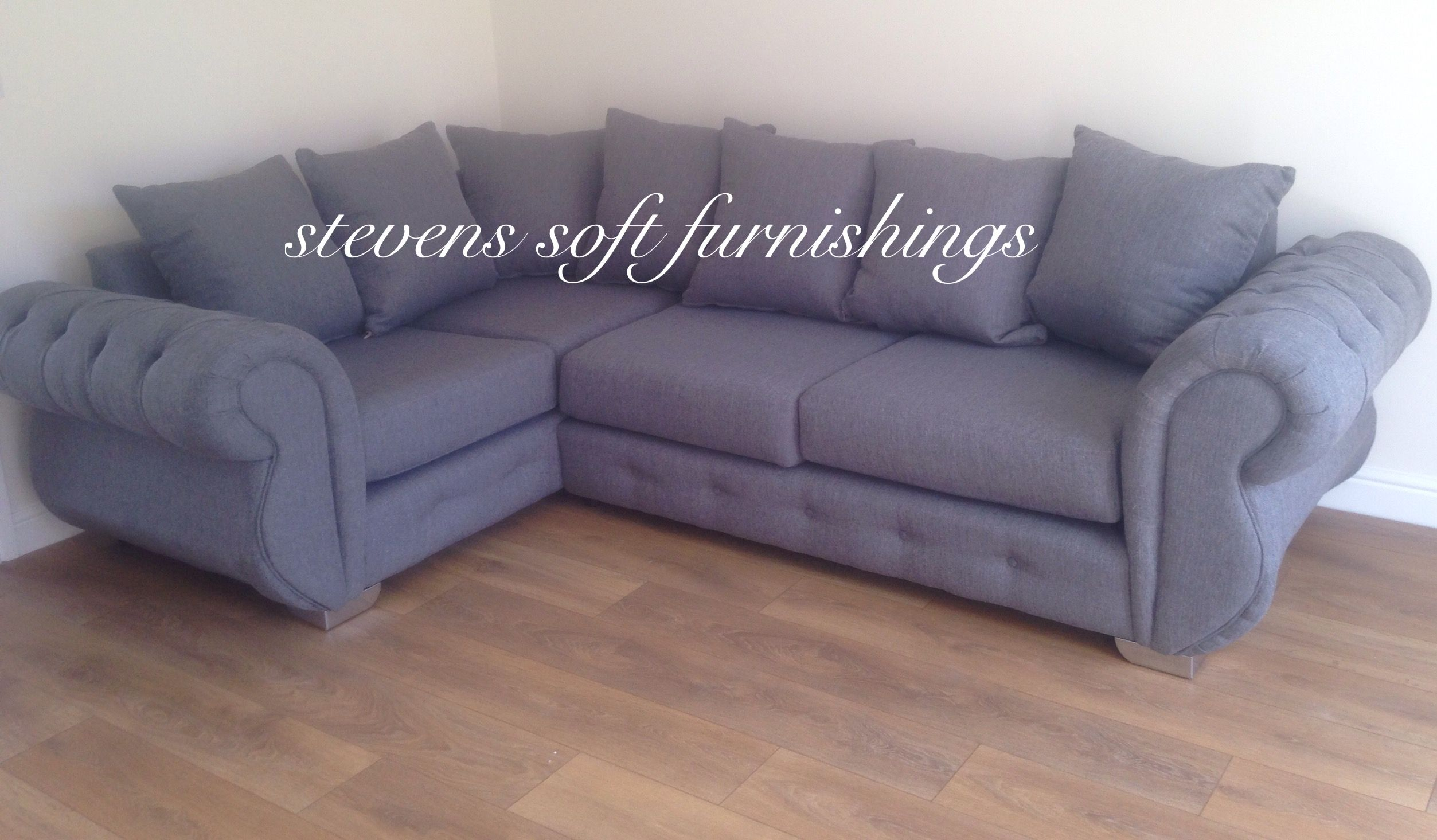 4 Seater Chesterfield Corner Sofa Chesterfield Corner Sofa Grey Baci Living Room