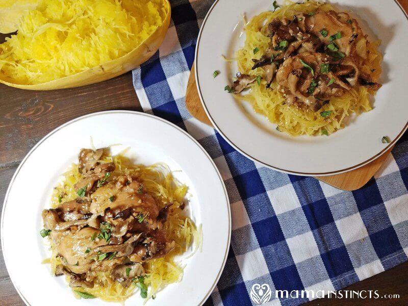 Instant Pot Chicken Marsala With Spaghetti Squash Recipe