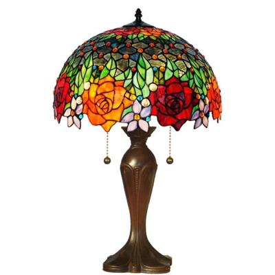 Amora Lighting 23 In Tiffany Style Roses Table Lamp In 2020