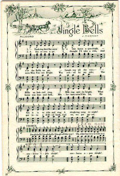 Remodelaholic 25 Free Printable Vintage Christmas Sheet Music Day 10 Christmas Sheet Music Vintage Christmas Music Crafts