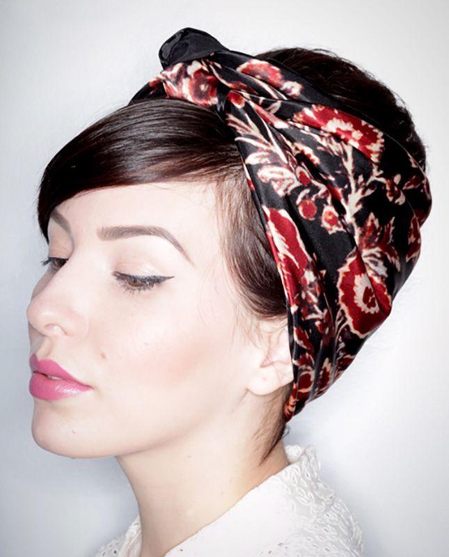 Comment mettre, nouer, porter foulard cheveux ? Foulard