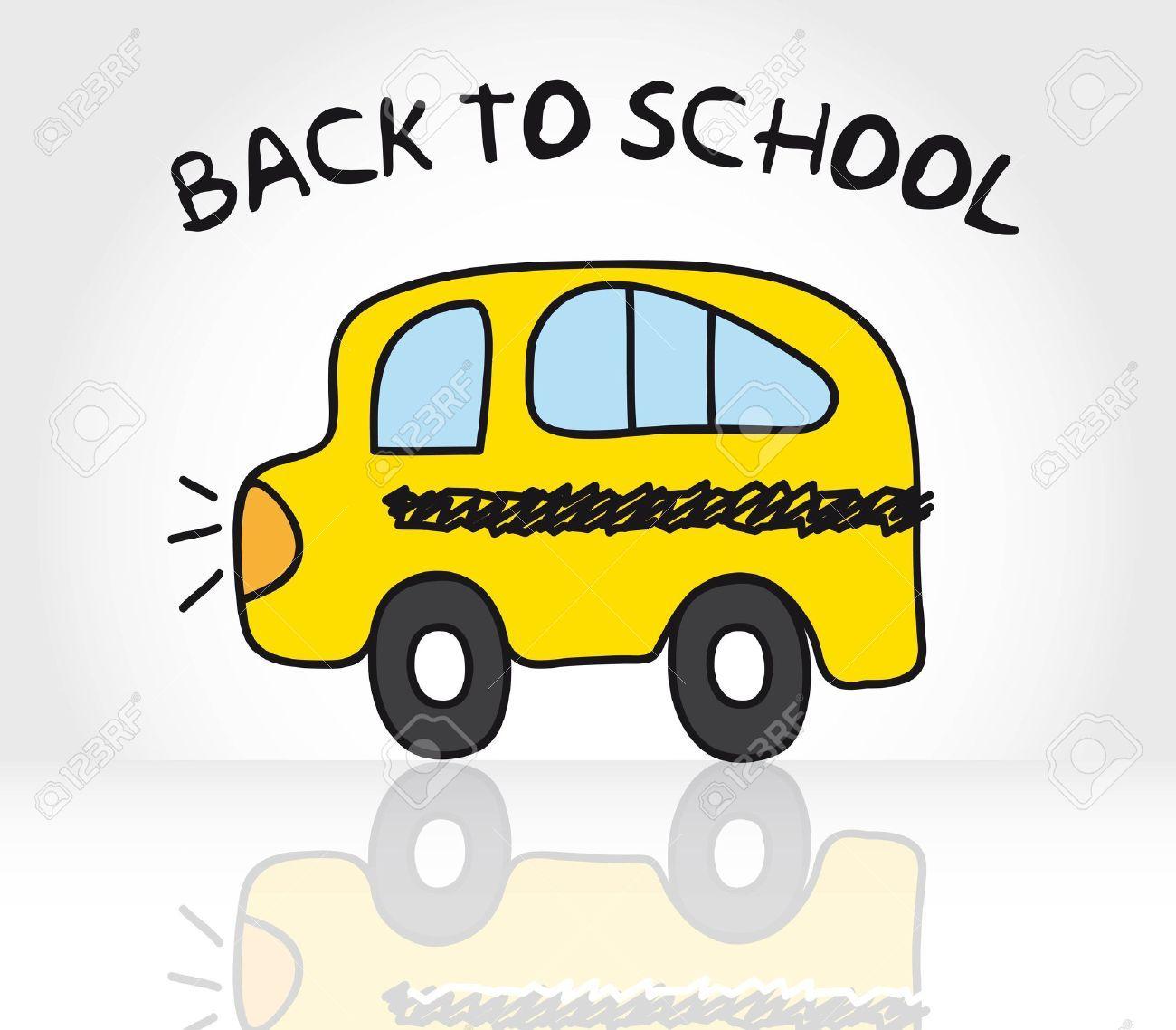 12495162-autob-s-de-la-escuela-de-dibujo-con-sombra-volver-a-la ...