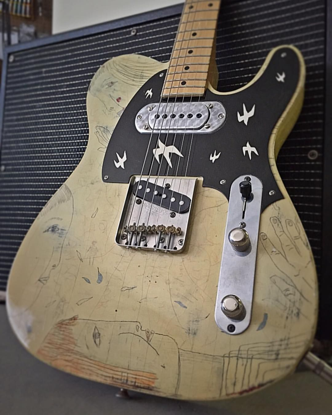 Old One Of Bill Frisell's Tele When It Was In My Shophave A Beauteous Average Electric Bill For 2 Bedroom Apartment Design Inspiration
