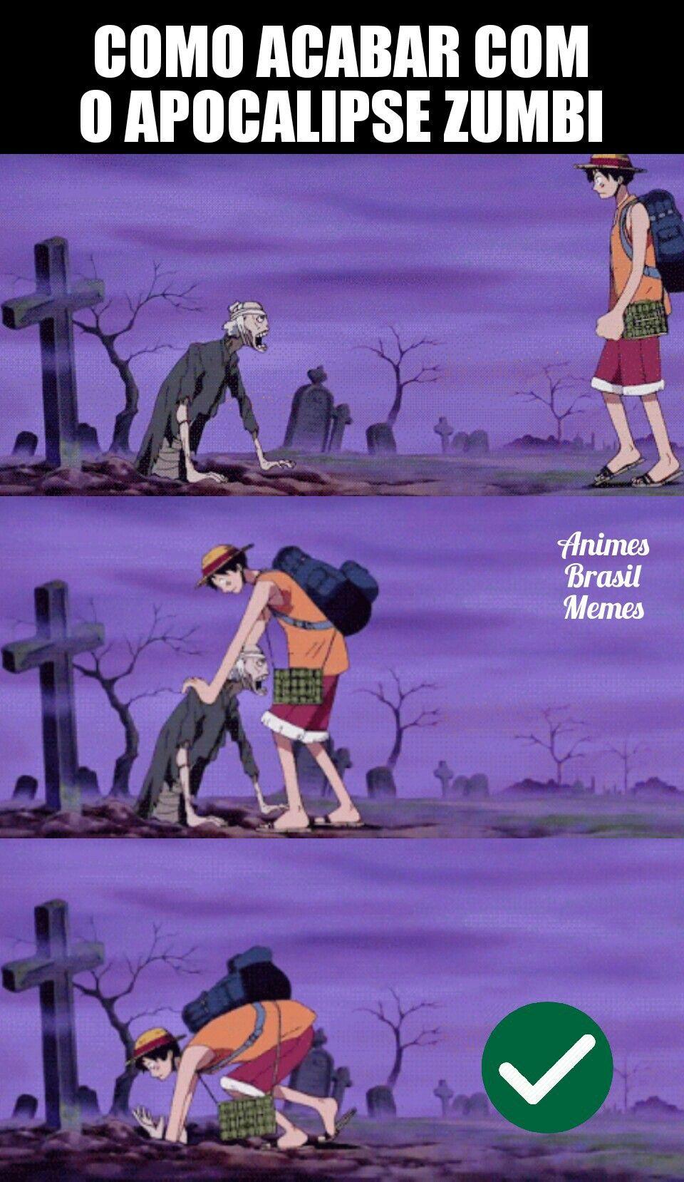 "Resolvido kkkkk Página ""Animes Brasil Memes"" do Facebook"