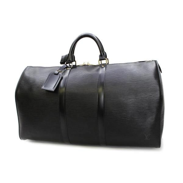 Louis Vuitton Keepall 50 Epi Handle bags Black Leather M42962