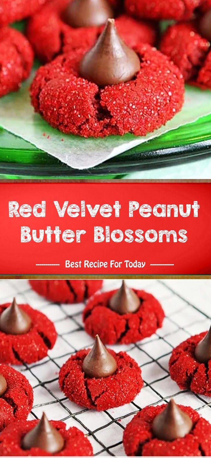 Red Velvet Peanut Butter Blossoms | Best Recipe 005 #redvelvetcheesecake
