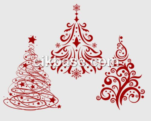 3 Exquisite Christmas Tree Photoshop Psd Brushes Abr File Free Download Tree Photoshop Cross Stitch Tree Christmas Tree