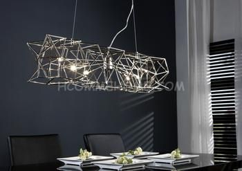 luminaire suspension design en nickel ezio 6 lampes luminaire pinterest luminaire. Black Bedroom Furniture Sets. Home Design Ideas