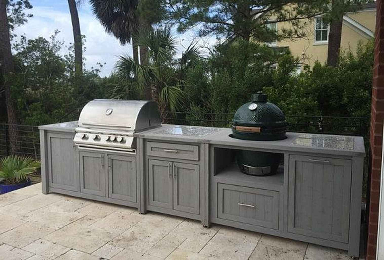 01 Best Outdoor Kitchen And Grill Ideas For Summer Backyard Barbeque Grill Table Outdoor Grill Outdoor Kitchen Design