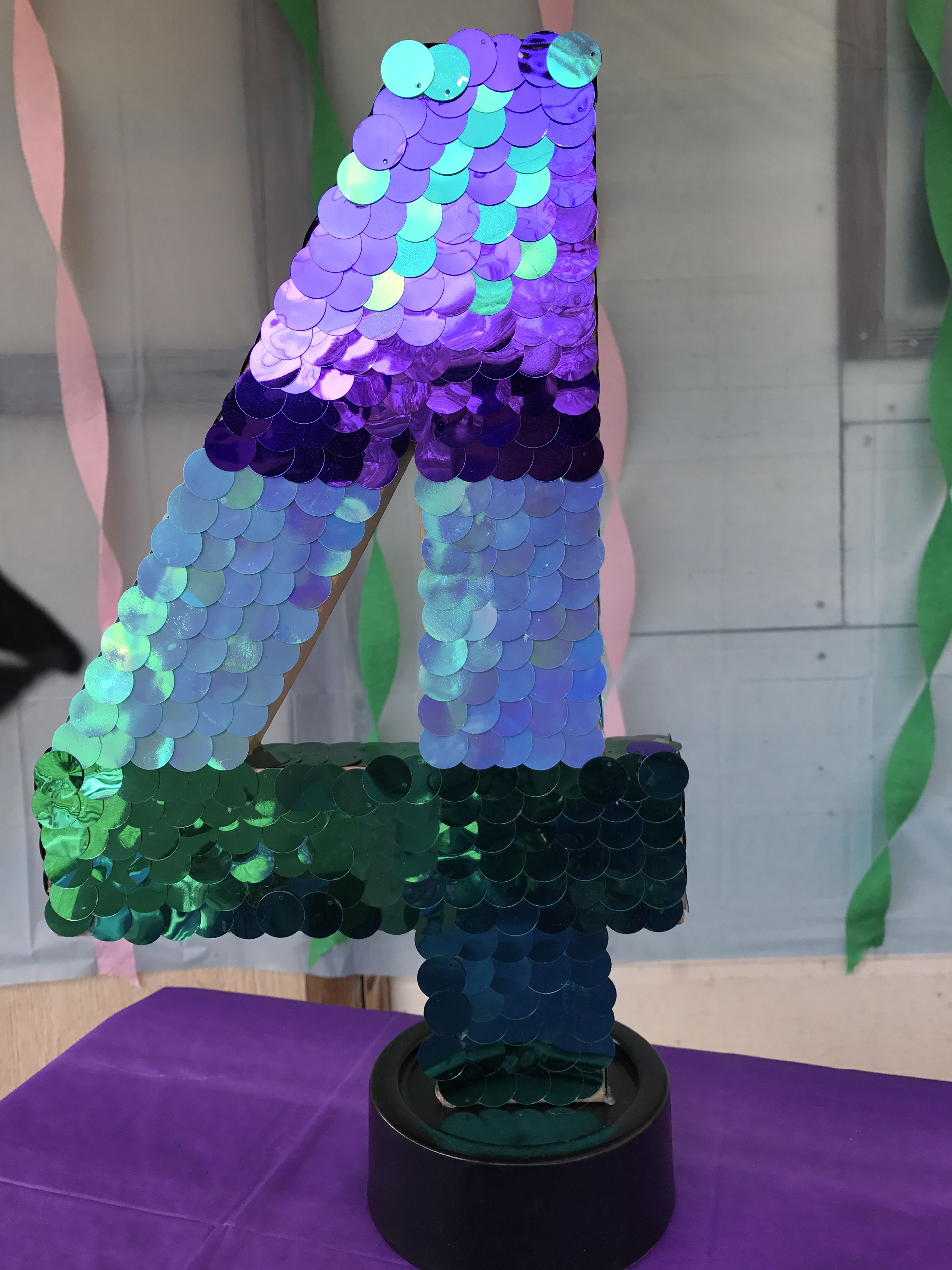 Number 4 Mermaid Party Decoration Hobby Lobby Mermaid Party Decorations Party Decorations Mermaid Party