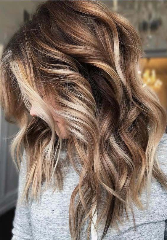 Trendy Hair Highlights Bildbeschreibung Lieben Sie den Kontrast in den Farben. Beachy w ...  - Lange Frisuren #fallhaircolors