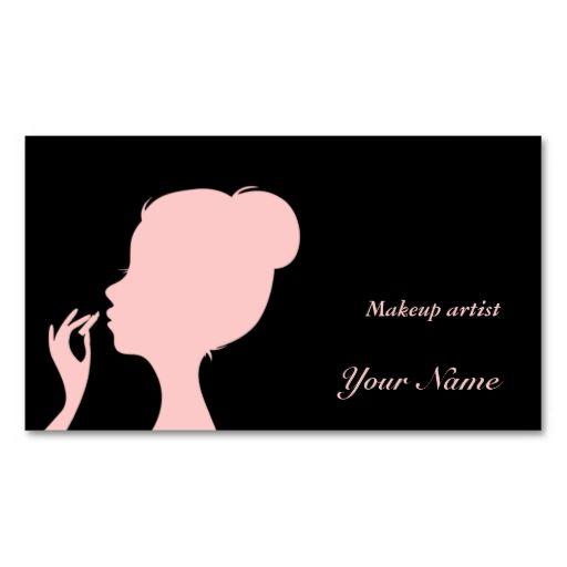 Makeup Artist Business Card Choose Your Color Makeup Artist Business Cards Makeup Business Cards Artist Business Cards