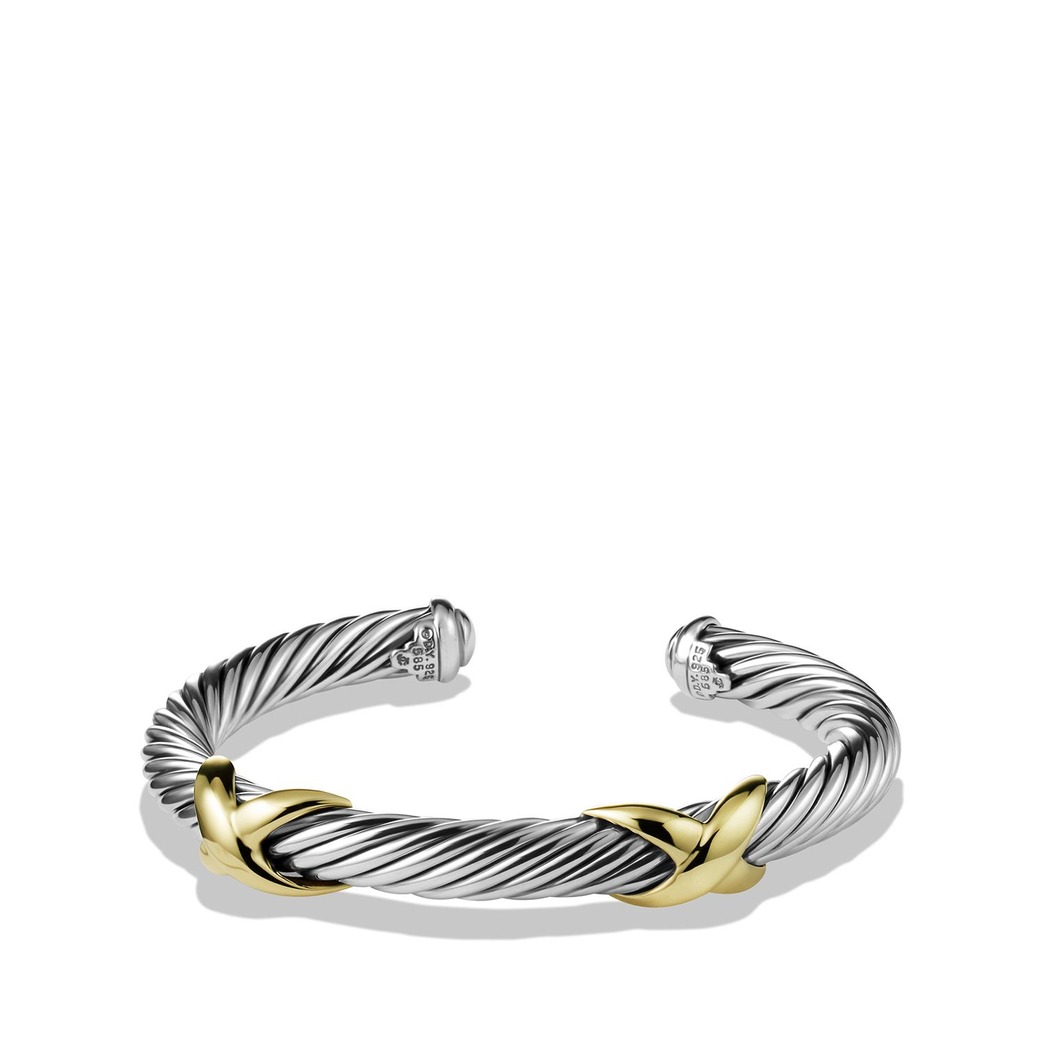 Double X Bracelet With Gold 7mm 975