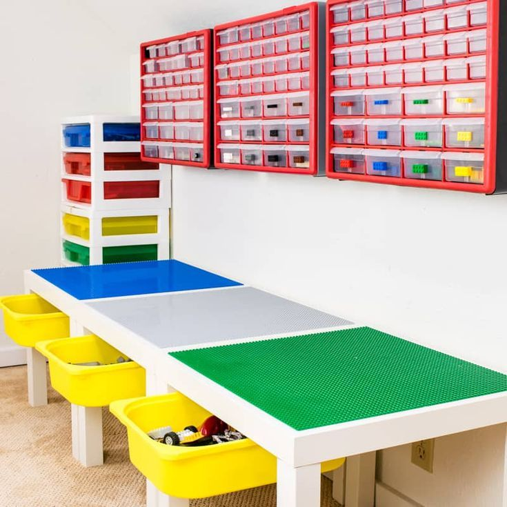 how to organize legos by shape