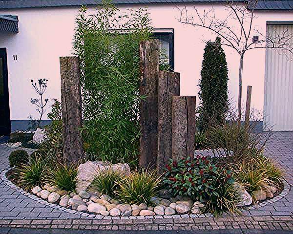 Harmonisches Steinbett - Deko Vor Der Haustür Ideen - My Blog