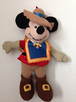 Vintage Mickey Mouse Stuffed Doll Disney Mickey Mouse 10 Three Musketeers Plush Doll Stuffed Toy Euc Disney Mickey Mouse Mickey Mouse Mickey