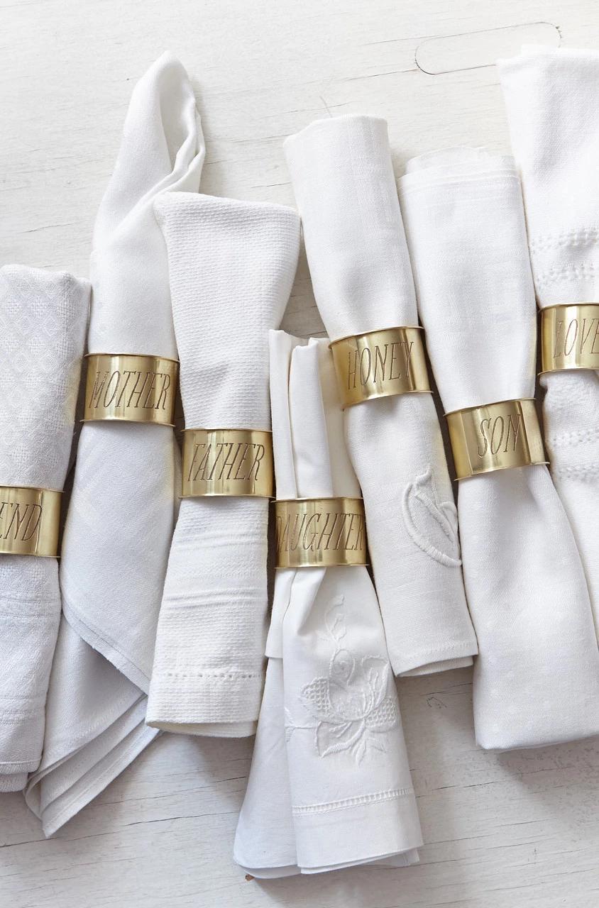 Engraved Napkin Rings - Heirloom Art Co. #napkinrings