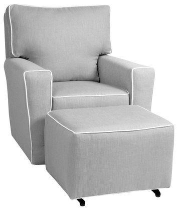 Fine Little Castle Monaco Ii Glider Pebble Grey W White Piping Pdpeps Interior Chair Design Pdpepsorg