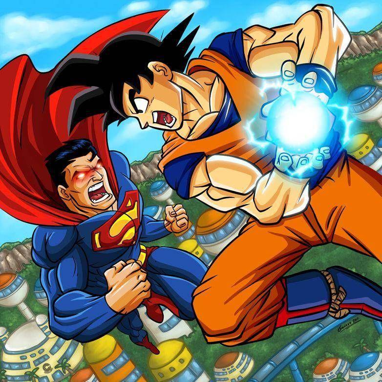 30 Absolutely Perfect Dragon Ball Z Mashups Goku Vs Superman Goku Superman Art