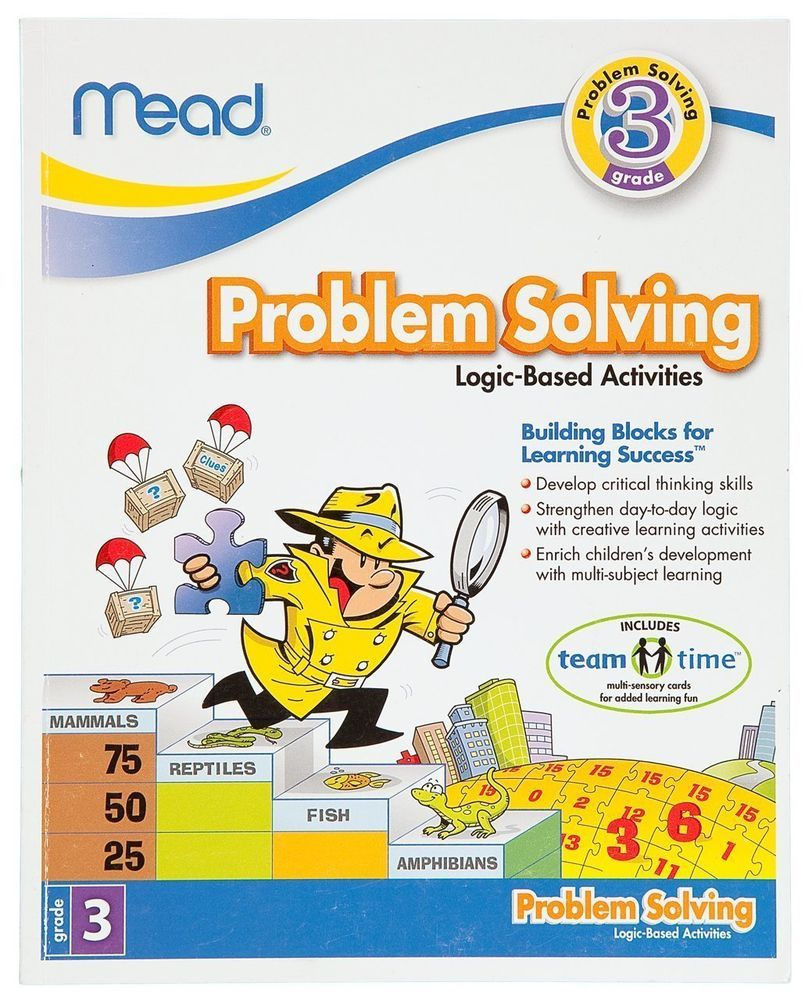 mead 3rd grade problem solving workbook 96 pages with answer key
