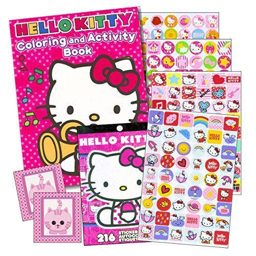 Hello Kitty Coloring Book Stickers 96 Pg Coloring Boo Https Www Amazon Com Dp B01e6pwcuu Ref Cm Sw Cat Coloring Book Hello Kitty Coloring Cat Stickers