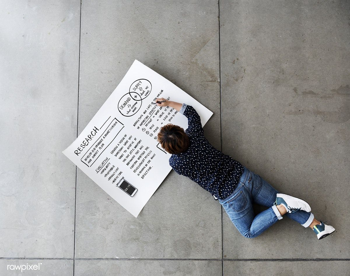 Download premium image of Female laying on the floor