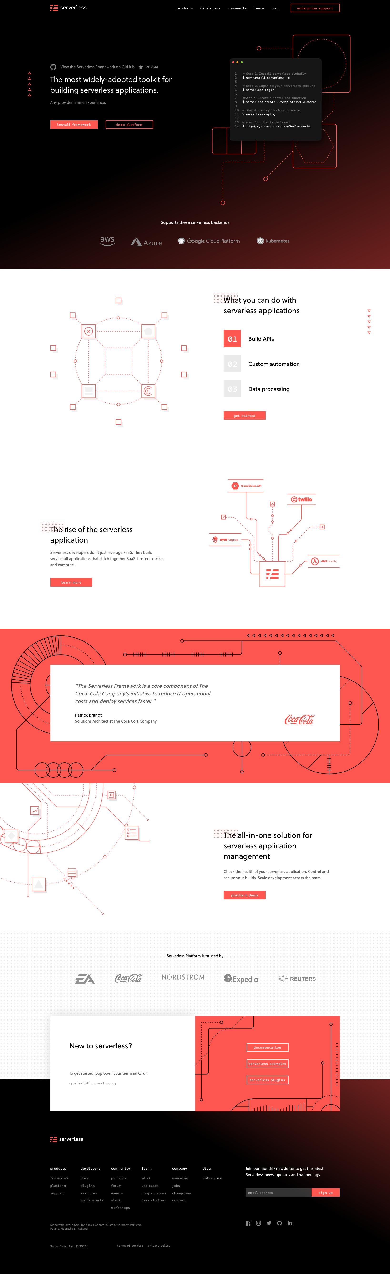 Serverless website integration #design #react #inspiration
