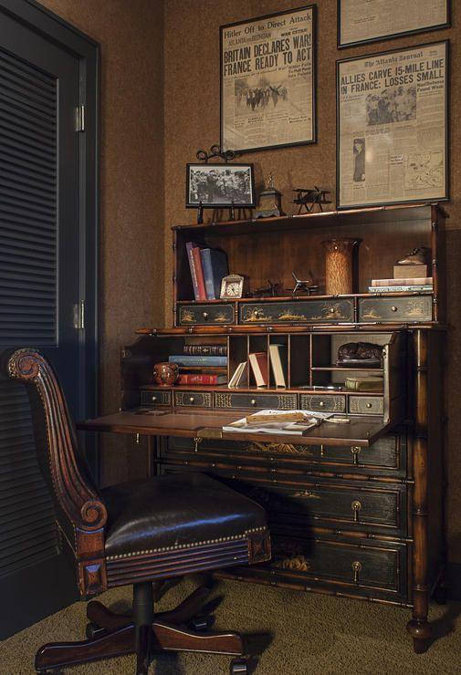 Masculine Home Office Decor Lucas Patton Design Vintage Home