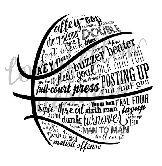 35af2ca6aa170 Basketball Terms - T-shirt design file to print yourself | Products ...
